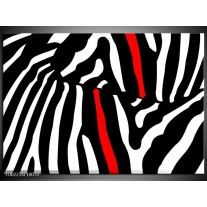 Glas schilderij Abstract | Zwart, Wit, Rood