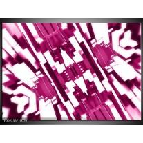 Foto canvas schilderij Abstract | Roze, Wit