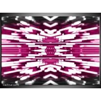 Glas schilderij Abstract | Roze, Wit