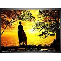Glas schilderij Natuur | Oranje, Rood, Bruin