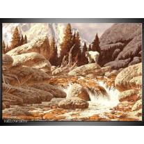 Glas schilderij Natuur | Bruin, Wit