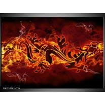 Foto canvas schilderij Abstract | Rood, Geel, Oranje