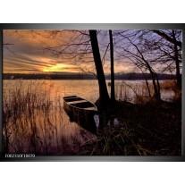 Glas schilderij Natuur | Geel, Zwart, Blauw