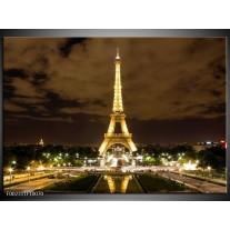 Glas schilderij Parijs | Geel, Bruin, Wit