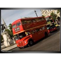 Glas schilderij Engeland | Zwart, Wit, Rood