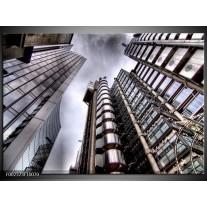 Glas schilderij Gebouw | Grijs, Wit