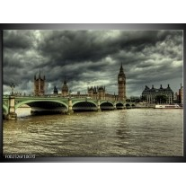 Glas schilderij Engeland   Grijs, Wit
