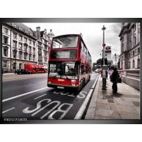 Foto canvas schilderij Engeland   Zwart, Rood, Wit