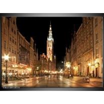 Glas schilderij Stad | Wit, Bruin, Zwart