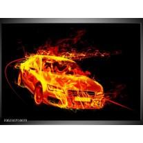 Glas schilderij Audi | Geel, Goud, Oranje