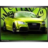 Glas schilderij Audi | Groen, Zwart