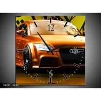 Wandklok op Canvas Audi   Kleur: Bruin, Groen, Zwart   F002351C