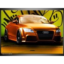 Glas schilderij Audi | Bruin, Groen, Zwart