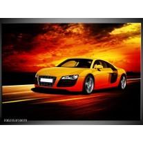 Glas schilderij Audi | Geel, Oranje, Zwart