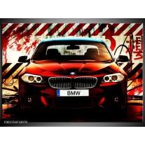 Glas schilderij BMW | Zwart, Rood, Wit