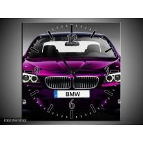 Wandklok op Canvas BMW | Kleur: Paars, Grijs | F002355C