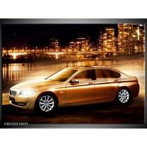 Glas schilderij BMW | Geel, Goud, Zwart