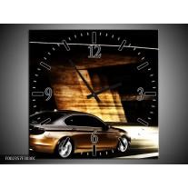 Wandklok op Canvas BMW | Kleur: Zwart, Goud, Wit | F002357C