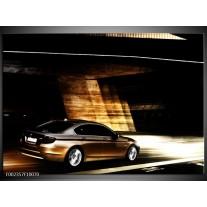 Glas schilderij BMW | Zwart, Goud, Wit