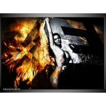 Foto canvas schilderij Lichaam | Goud, Zwart, Grijs