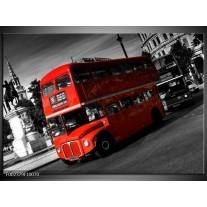 Glas schilderij Londen | Rood, Zwart, Grijs