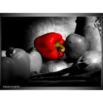 Glas schilderij Groente | Rood, Grijs, Zwart