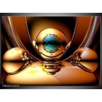 Glas schilderij Abstract   Goud, Blauw, Geel