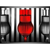 Foto canvas schilderij Glas | Rood, Zwart, Grijs