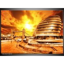 Foto canvas schilderij Gebouw | Bruin, Geel, Oranje