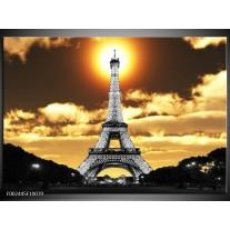 Foto canvas schilderij Parijs   Goud, Geel, Grijs