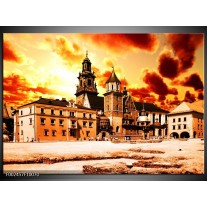 Foto canvas schilderij Gebouw | Oranje, Bruin, Geel