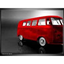 Foto canvas schilderij Auto | Rood, Zwart, Grijs