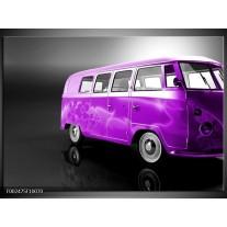 Glas schilderij Auto | Paars, Zwart, Grijs