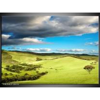 Foto canvas schilderij Natuur   Groen, Blauw, Wit