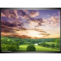 Foto canvas schilderij Natuur | Groen, Grijs, Blauw