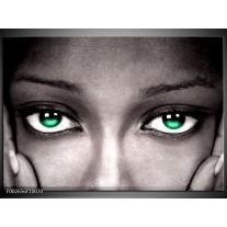 Glas schilderij Ogen | Groen, Zwart, Grijs