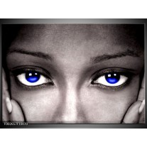 Foto canvas schilderij Ogen   Grijs, Zwart, Blauw