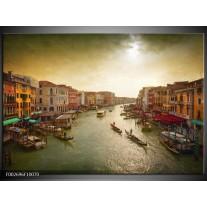 Glas schilderij Venetië | Grijs, Geel