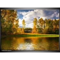 Glas schilderij Natuur | Groen, Bruin, Wit
