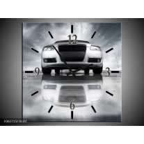 Wandklok op Canvas Audi | Kleur: Wit, Grijs, Zwart | F002715C