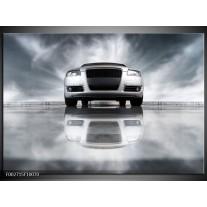 Glas schilderij Audi | Wit, Grijs, Zwart