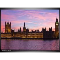 Glas schilderij Engeland | Grijs, Paars, Wit