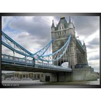 Glas schilderij Engeland | Grijs, Blauw, Wit