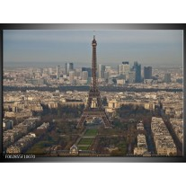 Glas schilderij Paris | Grijs, Blauw, Wit