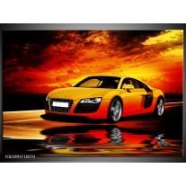 Glas schilderij Audi | Oranje, Zwart, Geel