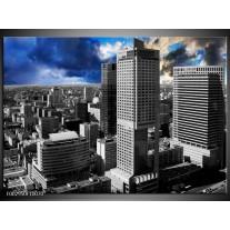 Foto canvas schilderij Gebouw | Blauw, Grijs