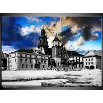 Foto canvas schilderij Gebouw   Blauw, Grijs, Wit