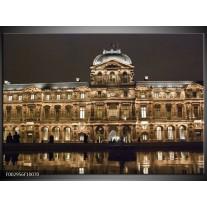 Glas schilderij Centrum | Bruin, Wit