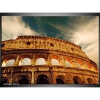 Glas schilderij Rome | Bruin, Wit, Blauw