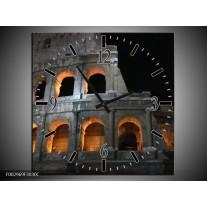 Wandklok op Canvas Rome | Kleur: Geel, Grijs, Zwart | F002969C